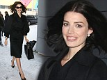 What a beauty: Pare looked elegant in her black coat