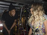 Show memories: Beyonce shared a picture of herself and husband Jay Z before going on stage at The O2 in London