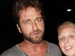 P.S I love your work! Gerard Butler posed with fans at The Royal Hotel in Paddington on Friday night