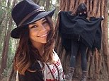 Embracing her free spirit! Vanessa Hudgens said she 'loves hugging trees' as she shared snaps of her recent trip to Big Sur on Friday