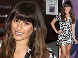 Still smiling! Lea Michele looks well rested at album signing in Los Angeles despite grueling promo schedule