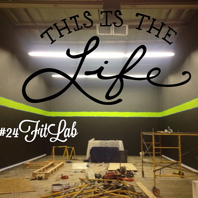 LOVING spending every day working on the new nutrition club, the #24FitLab ! It's coming along soo beautifully. Everyone is putting in so much time and hard work. I love this family!