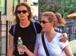 Family rift: Nancy Motes with her half-sister Julia Roberts in 2002. Motes accused the actress of being a bully