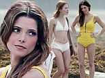 Ashley Greene plays Priscilla Presley in a yellow bathing suit on the set of her new indie movie with bikini-clad Emily Browning