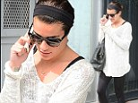 Me time: Lea Michele was seen leaving the Kate Somerville Salon in Los Angeles on Friday