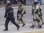 Blackwater? A video showing armed men on the streets of Donetsk