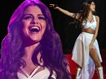 She's back: Selena Gomez returned to the stage on Saturday in Hidalgo, Texas after cancelling the final shows of her last tour and entering rehab in January