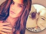 'Love of my life!' Alessandra Ambrosio gives 22-month-old son Noah a tender kiss in touching family snap