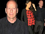 Date night: Bruce Willis and expectant wife Emma Heming-Willis make the most of some rare alone time with a romantic meal at Mr Chows