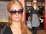 Out and about: Paris Hilton was seen further investing in her beauty routine as she left Anastasia Salon in Beverly Hills, with her bags of purchases in hand