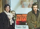 Dinner for three: Harry Styles was seen with dining out with two women in LA earlier in the week