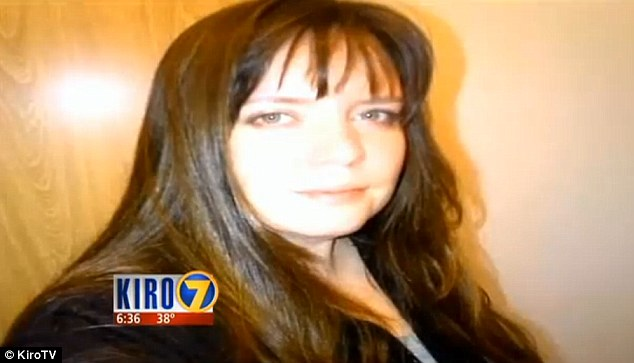 Bludgeoned: Georgina Latshaw, 37, had been the legal guardian of Brad George for more than ten years and was killed in her bed by someone wielding a dumbbell - which was found in the trash outside her Washington State home on Friday