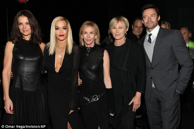 All star cast: Katie, Rita, Trudie, Deborra and Hugh all posed together following the fantastic event