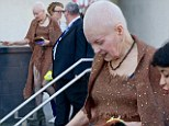 Dame Vivienne Westwood sports quirky woven dress as she continues to show off short grey 'do at Women of the World Festival