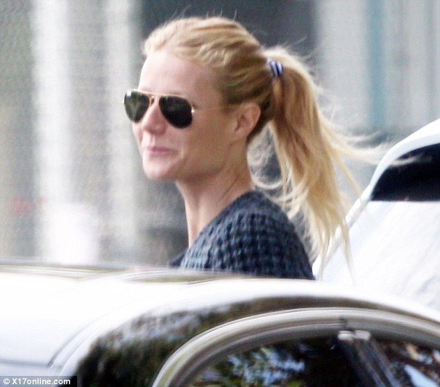 Beautiful blonde: She wore her blonde hair swept back in a high ponytail