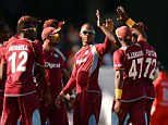 Victory: West Indies beat England in the first T20 international of the series in Barbados