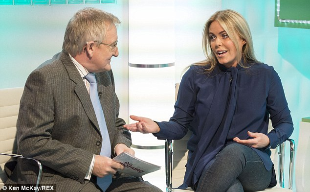 Advice: Patsy with This Morning's resident GP, Dr Chris Steele. The actress urged loved ones of women going through the menopause to 'cut them a bit of slack'