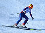 Ground-breaking: Gallagher's gold is Team GB's first in a Winter Paralympics