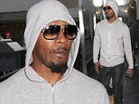 Hard Knock Life? Jamie Foxx tried to lay low as he arrived at Los Angeles International Airport on Sunday
