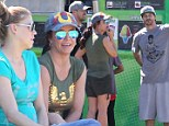 Happy families! Britney Spears laughs with ex Kevin Federline and his heavily pregnant wife as families unite at sons' soccer match