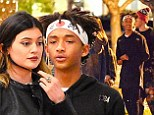 Regular teens: Jaden Smith and Kylie Jenner popped into a Ralph's supermarket in Calabasas, California together