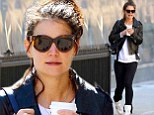 That's unlike you! Katie Holmes attempted to be sporty chic as she stepped out in New York City on Saturday