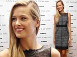 Demure: Petra Nemcova showed off her bronzed limbs in a conservative dress as she attended Glamour and Ann Taylor Celebrate International Women's Day in New York City on Saturday