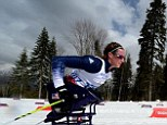 After the race at Sochi 2014 paralympian Miss McFadden said: 'I just raced for my family today. When I was feeling tired, in pain and frustrated I just had to think about my family in the stands'