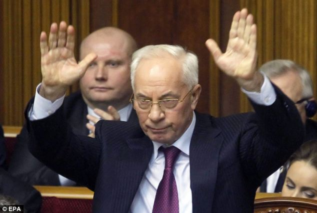 Ukraine's Prime Minister Mykola Azarov submitted his resignation amid continuing political protests