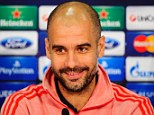 Focus: Bayern boss Pep Guardiola believes a 2-0 aggregate lead can be dangerous