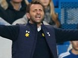 Not good enough: Tim Sherwood was fuming after Tottenham's 4-0 defeat to Chelsea at Stamford Bridge
