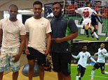 Working hard: Sturridge has been in the gym and studying videos of greats such as Owen