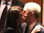Intimate: Prince Andrew plants a kiss on Monika Jakisic, a model 20- years his junior