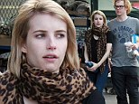 American grunge story! Emma Roberts and disheveled fiancé Evan Peters buy frozen dumplings and cheese to snack on