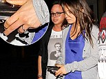 Her something blue! Mila Kunis flashes her pins in vibrant minidress during night out while huge engagement ring is hard to miss