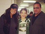 Cheering squad: Teresa and Joe Giudice supported their daughter Gia for a cheer competition
