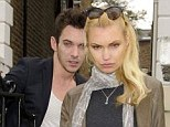 Hanging out: Jonathan Rhys Meyers steps out with Russian model Marinika Smirnova