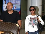 Down Under: Mel B and her husband Stephan Belafante arrive back in Australia from the US with a trolley of luggage