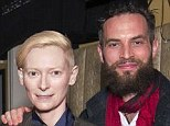 Tilda Swinton, 53, is supported by toy-boy, 35, as she promotes vampire flick Only Lovers Left Alive