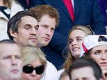 Outing: Prince Harry and his girlfriend Cressida Bonas enjoyed a day out at Twickenham to watch England take on Wales