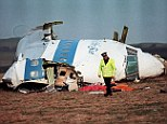 Tragedy: The wreckage of Pan Am 108