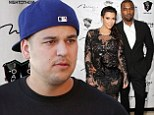 'He has no desire to go to France': Rob Kardashian reportedly does not want to attend Kim and Kanye West's wedding due to 'changing shape'