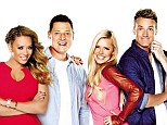 Not so awesome foursome: Sophie Monk (second from right) made the announcement on Twitter just hours after the ratings revealed her breakfast program was the least popular on the FM dial