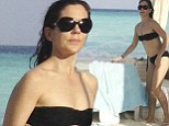 Looking good! Princess Mary shows off slim figure enjoying family beach time in the Maldives