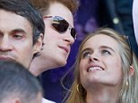 Courting: Harry and Cressida at the England v Wales Six Nations rugby match at Twickenham yesterday