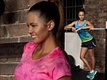 Glamour girl Jesinta Campbell dresses down in exercise gear for Asics photo shoot