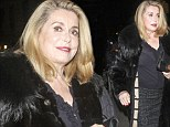 Iconic: Catherine Deneuve, 70, showed she has lost none of her allure as she attended a Q&A for her latest film On My Way at the IFC Centre of New York