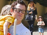 Family fun! Rachel Zoe walks her son Skyler to friend's birthday party while Johnny Knoxville's son Rocko gets a lift