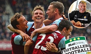 Happy days: Matt Taylor is pleased with West Ham's form