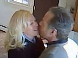 Caught: Robert Lindsay and Jeannemarie Phelan are believed to be pictured here after meeting at the New Jersey home of Richard and Sandra Weiner
